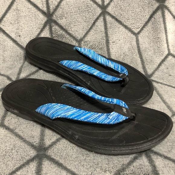 new balance cush womens flip flops